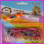 2014 Crazy hot selling colorful loom band watch kit /rubber band bracelet watches