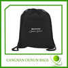 Factory direct sale black cotton drawstring bag