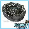 2015 New design Dark Black Printed Pet Dog Bed
