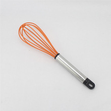 Wire Whisk Egg Beating Mixer Silicone Coated & Stainless