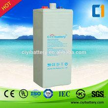 Longest Life Lead acid Battery Solar Battery 2V 500 800AH 1000AH 2000AH 3000AH OPzV Battery