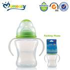 New design wide neck free baby bottle samples 2014