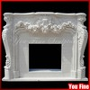 White Classic Carved Natural Marble Decorative Fireplace Mantles