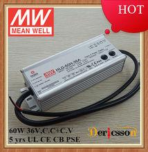 Original MEAN WELL 60w led power supply 36V HLG-60H-36A
