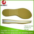 latest flat pu footwear sole