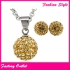 Fashion stainless steel set jewelry gold plated