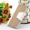 2014 New product wood grain book stand leather case for Samsung galaxy S4 I9500 fashion case for 9500
