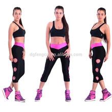 86% nylon 14% spandex custom Gym Clothing Women Sports Apparel Active Wear