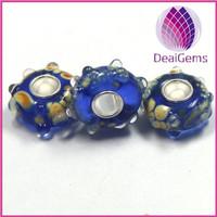 2014 latest design handemade Large hole European crystal glass beads