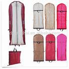 non woven clear PVC long bridal wedding dress gown cover garment handle bag