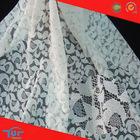 White Nylon Jacquard Mush Lace Fabric For Making Garments