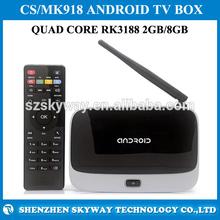 High quality tv box 1.8ghz With 2g 8g Cs918 Rk3188 Quad Core