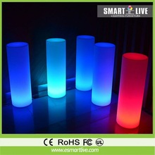led light bar waterproof light rechargeable battery remote control 16 color changing lighting Bar glowing cylindrical pillars
