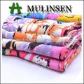 mulinsen 32s*32s الأزهار المطبوعة النسيج العادي المنسوجة النسيج فسكوزي تيشرت فتاة