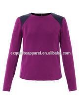 2014 purple crepe blouse