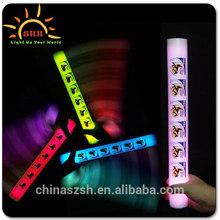 Favor LED foam baton/glow up LED bracelet/flashing light up bracelet