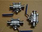 3pc ball vale clamped end ,1000wog, sanitary 3pc stainless steel ball valve ,ss304/ss316