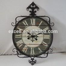 Vintage Antique Home Decor Metal Framed Wall Clock