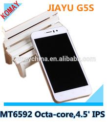 "JIAYU G5S JIAYU G5 Upgrade MTK6592 Octa Core Android 4.2 2G RAM+16G ROM 4.5"" IPS Screen 3000mah battery 13.0MP"