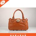 al120086 de calidad superior de cuero genuino color camel womam populares bolso de mano