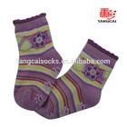 Anti slip custom baby sock with picot welt