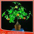 vacanza illuminazione fiori decorativi artificiali arancio mandarino