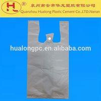 Plastic t-shirt Packaging Bags plastic food bag for supermarket