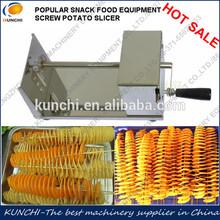 KUNCHI popular sold potato tower slicing machine/spring potato cutter