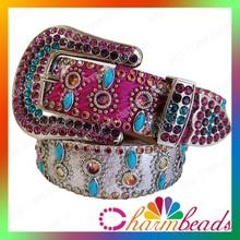 BT090 Diamond shape rhinestone belt fantasy belts