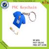 Custom mini t-shirt rubber football club keychain
