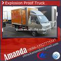 Foton pequeño mini 4*2 1-2tons 5.3 cbm explosivo material de uso especial van camión de transporte, camión de carga, a prueba de explosivos de camiones