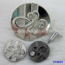 brass ring snap fastener,fashion snaps fastener,decorative metal snap fastener