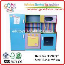 YI WU hot sale large kitchen toy set, new & popular kids kitchen toy set, cute design wooden kitchen toy set