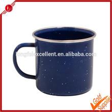 Hot sale 8cm ss rim steel enamel mug wholesale with speckle