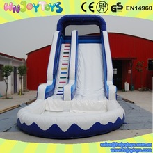 New inflatable water pool slide,giant inflatable water slide with pool