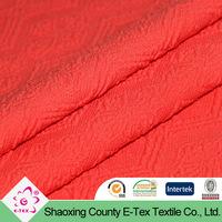 lady dress sembross design polyester kniting jacquard