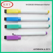 Magnet and brush whiteboard marker pen