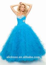 Glistening Beading Cross Straps Floor Length Sweetheart Strapless Layered Agaric Edge Fluffy Prom Dress