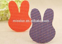 various shape cartoon velcro hair fringe holder Korea rabbit magic bang clips cheap posted magic belt hair accessories gift