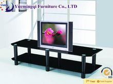 modern luxury black glass TV stand/living room furniture