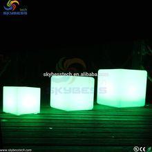 illuminated led cube chair/ night club led cube lighting