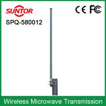 outdoor 5.8GHz 12dBi/2.4GHz 15dBi high gain fiberglass omnidirectional antenna