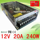 110v/220v input ac to dc power supply 12v 20a smps Made in China