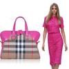 2014 PU material and canvas Fashion new style woman handbag factory HDB014