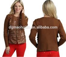 live a little women collarless jacket china supplier