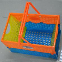 Cheap flexible handle plastic laundry baskets