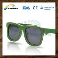 2014 new design skateboard wood sunglasses or Canadian Maple Wood Glasses (WB74)