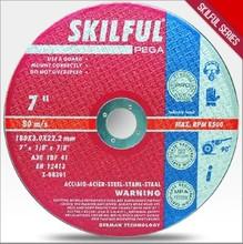 "7""180x3x22.2 T41 skilful brand abrasive cutting wheel for metal"