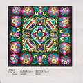Mais novo projeto padrões bordados étnicos tecidos de algodão para sacos