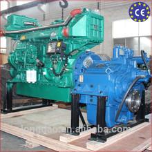 Inboard marine engine with gear box
